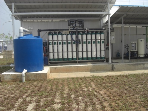UF filtration systems for water recycling purpose